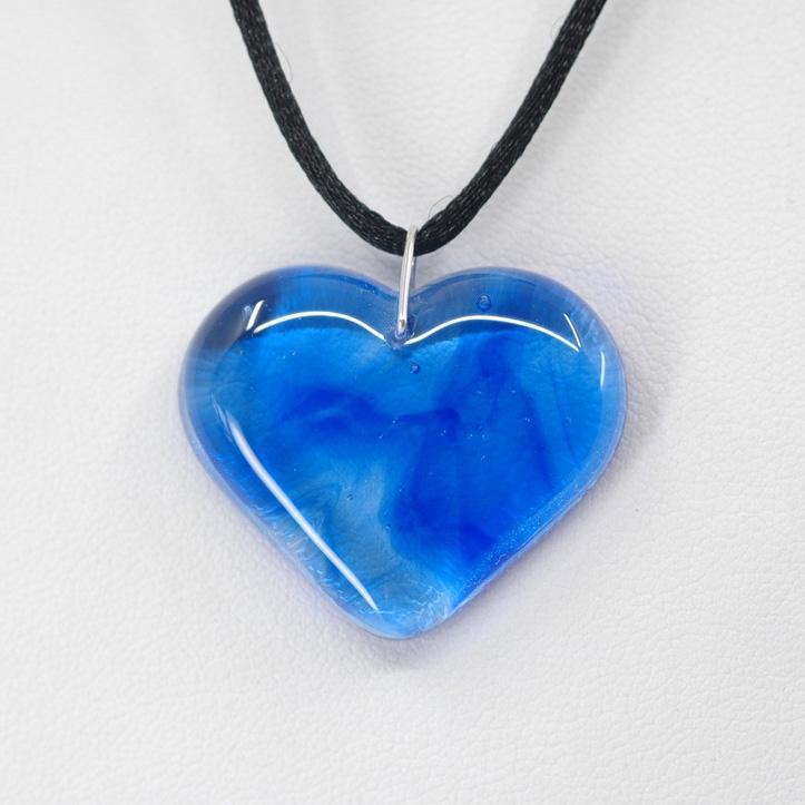 Blue Swirled Heart