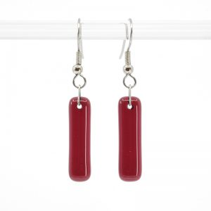 Cranberry red earrings