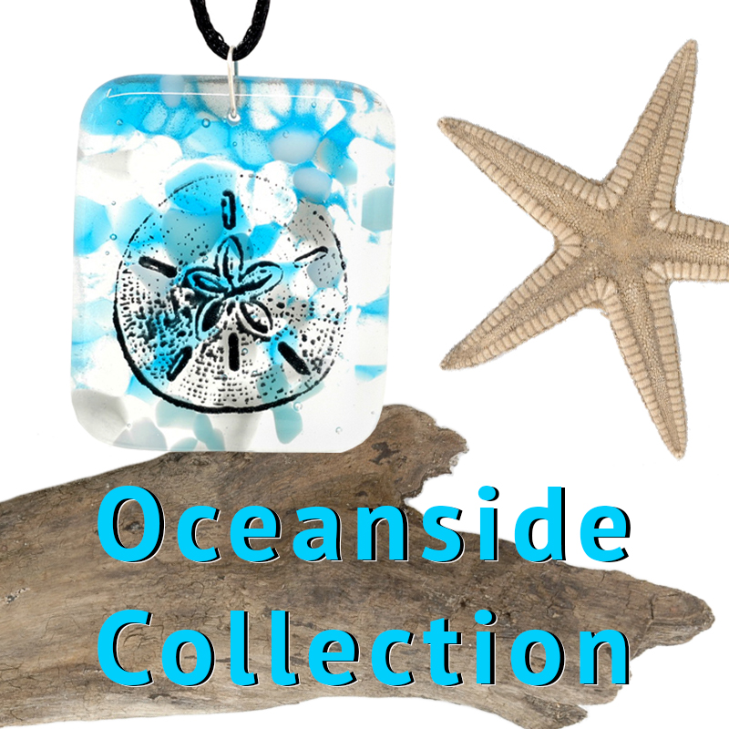 Oceanside Collection with pendant, driftwood, and starfish
