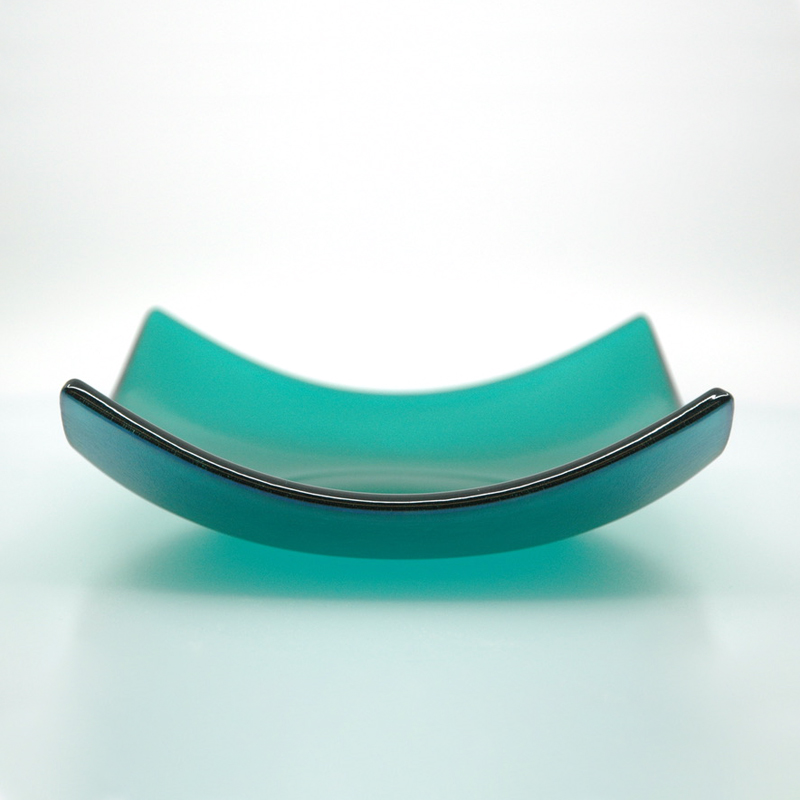 Teal square bowl
