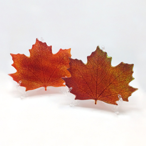 Large Red Maple Leaf Plates