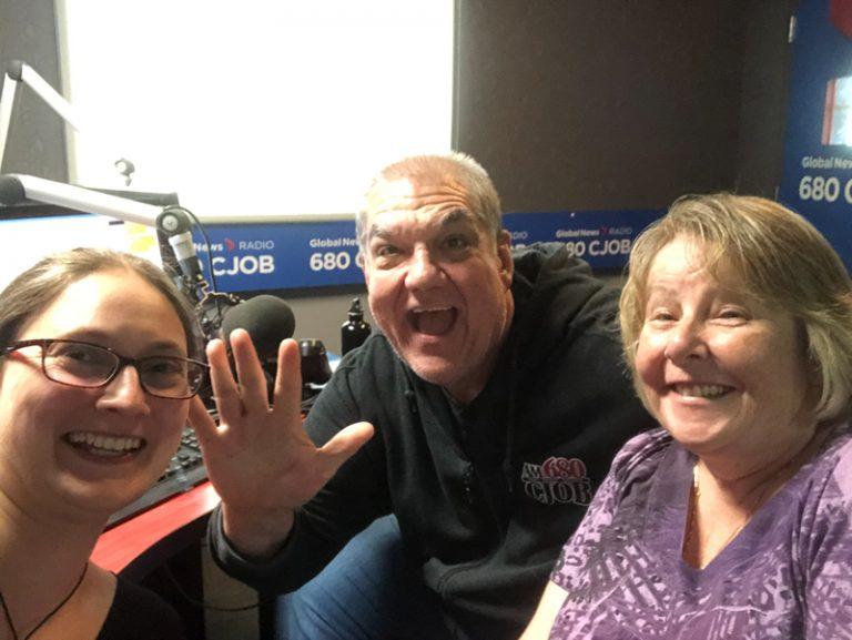 Heather Dawson Hal Anderson and Julia Penny at CJOB Radio