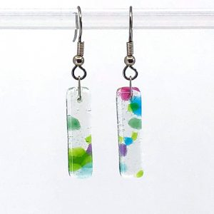 Spring Fused Glass Earrings