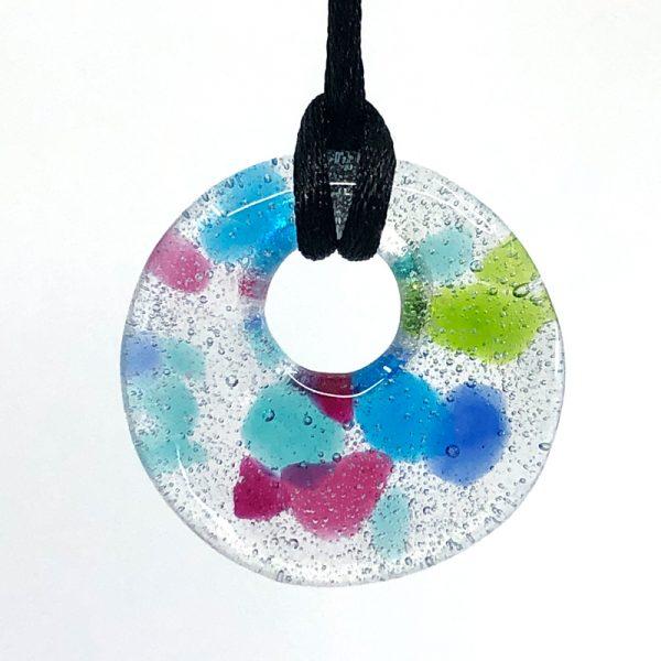 Fused Glass Round Pendant