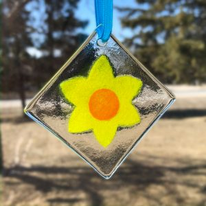 Bright Yellow Daffodil Suncatcher