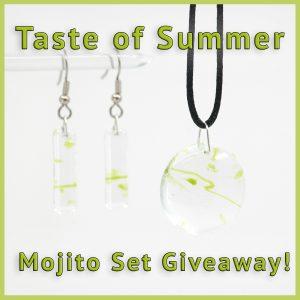 Fused Glass Mojito Jewelry Set