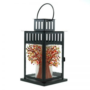 Fused Glass Tree of Change Lantern