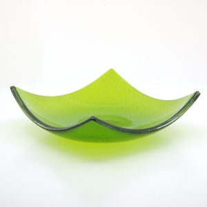 Green Fir Fused Glass Bowl