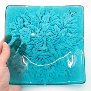 Jack Frost Fused Glass Bowl