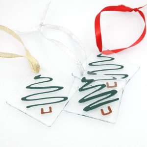 O' Christmas Tree Fused Glass Ornaments
