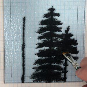 Painting O' Christmas Tree Glass Panel