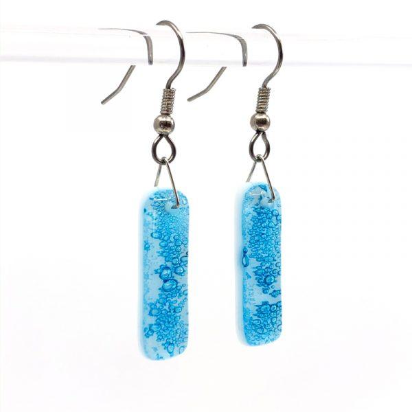 Cerulean Fused Glass Earrings