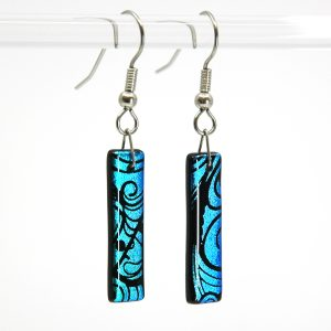Dichroic Fairy Wing Fused Glass Earrings