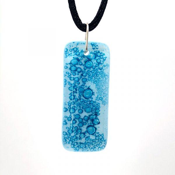Cerulean Fused Glass Pendant