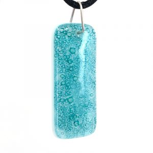 Emerald Fused Glass Pendant