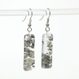 Fused Glass River Rock Earrings