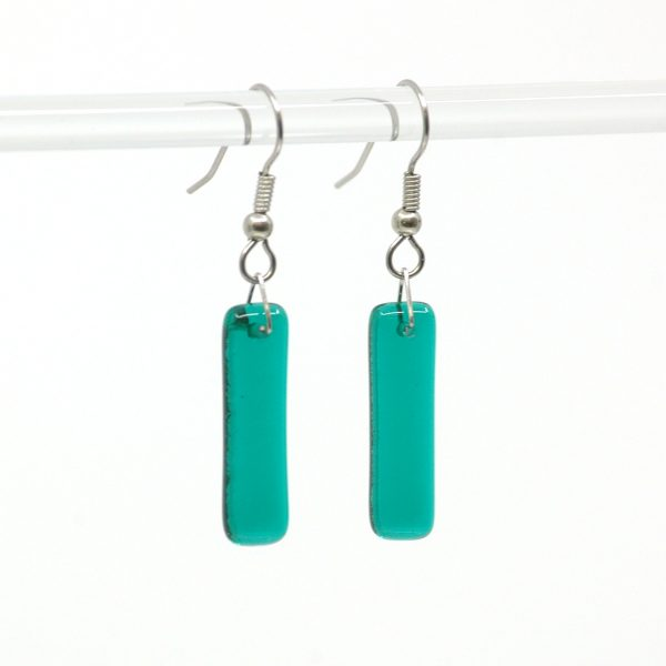 Fused Glass Tranquil Teal Earrings