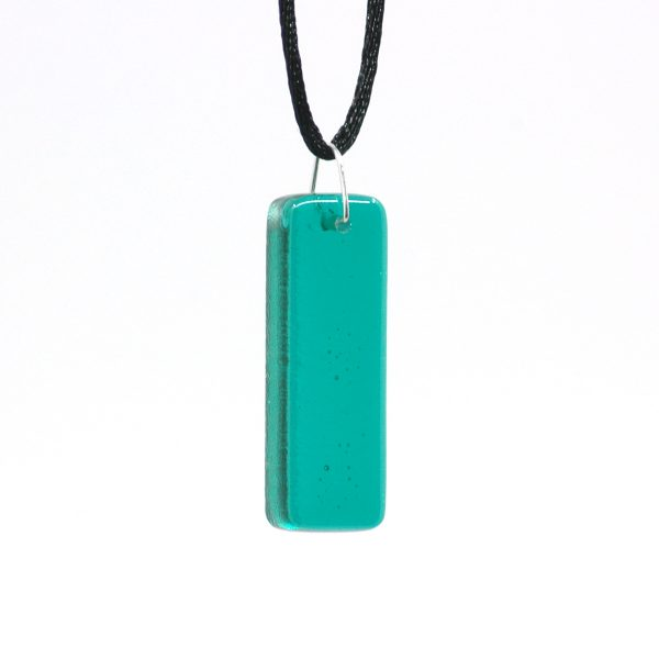 Fused Glass Tranquil Teal Pillar Pendant