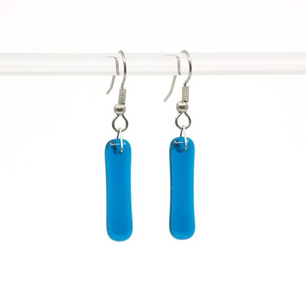 Fused Glass Turquoise Waters Earrings