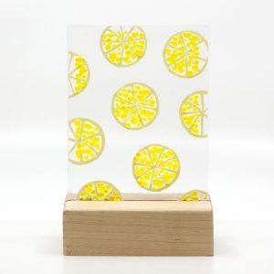 Summer Citrus fused glass art lemon slices