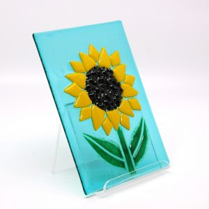 Sunflower Fields Fused Glass Art